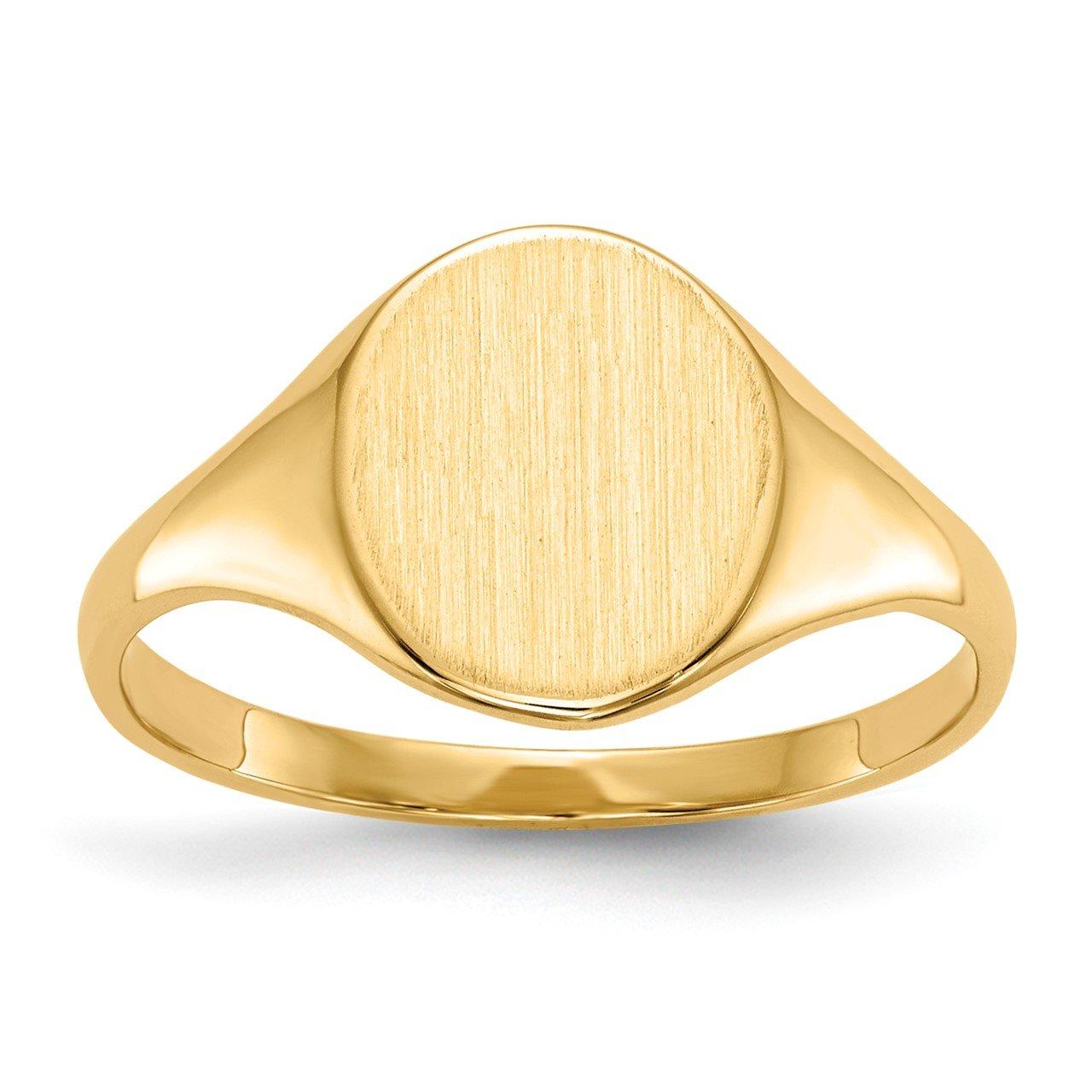 14k 10.0x8.5mm Open Back Signet Ring