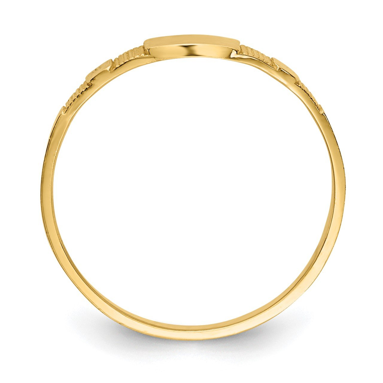 14K Polished Square Baby Signet Ring-1