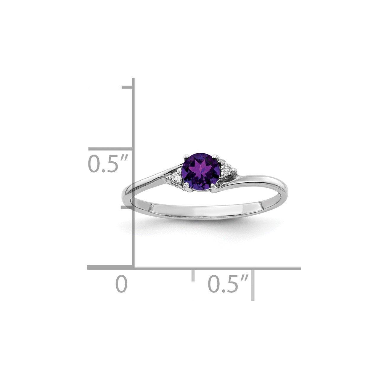 14k White Gold Diamond and Gemstone Ring Mtg-1