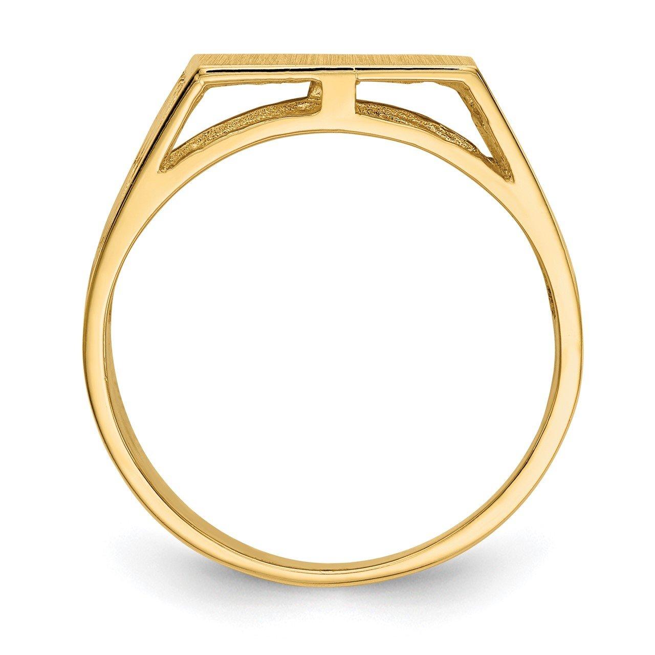 14k 12.0x12.5mm Open Back Men's Signet Ring-1