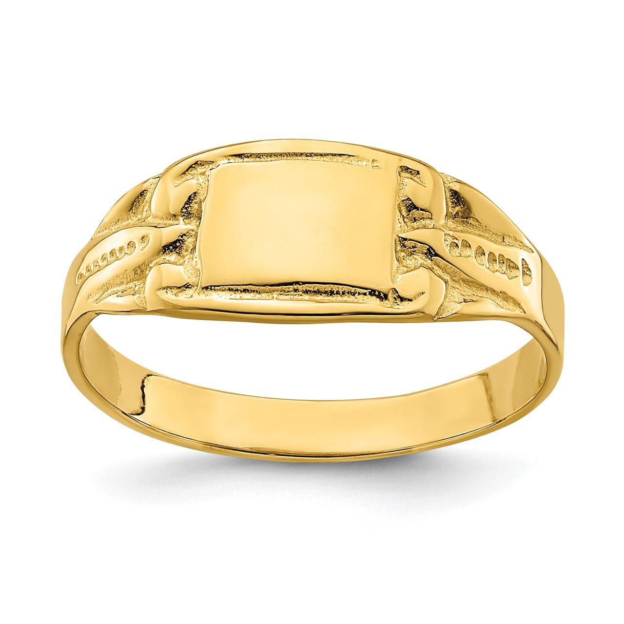 14k Rectangular Signet Baby Ring