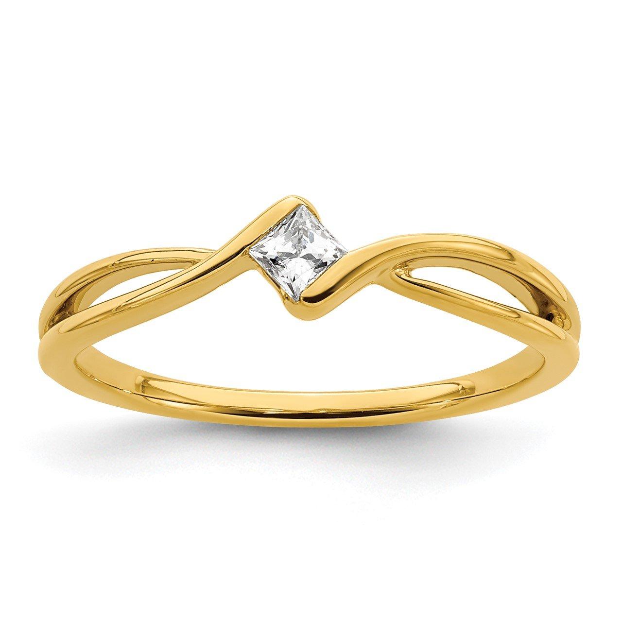 14k Lab Grown Diamond SI1/SI2, G H I, Promise Ring