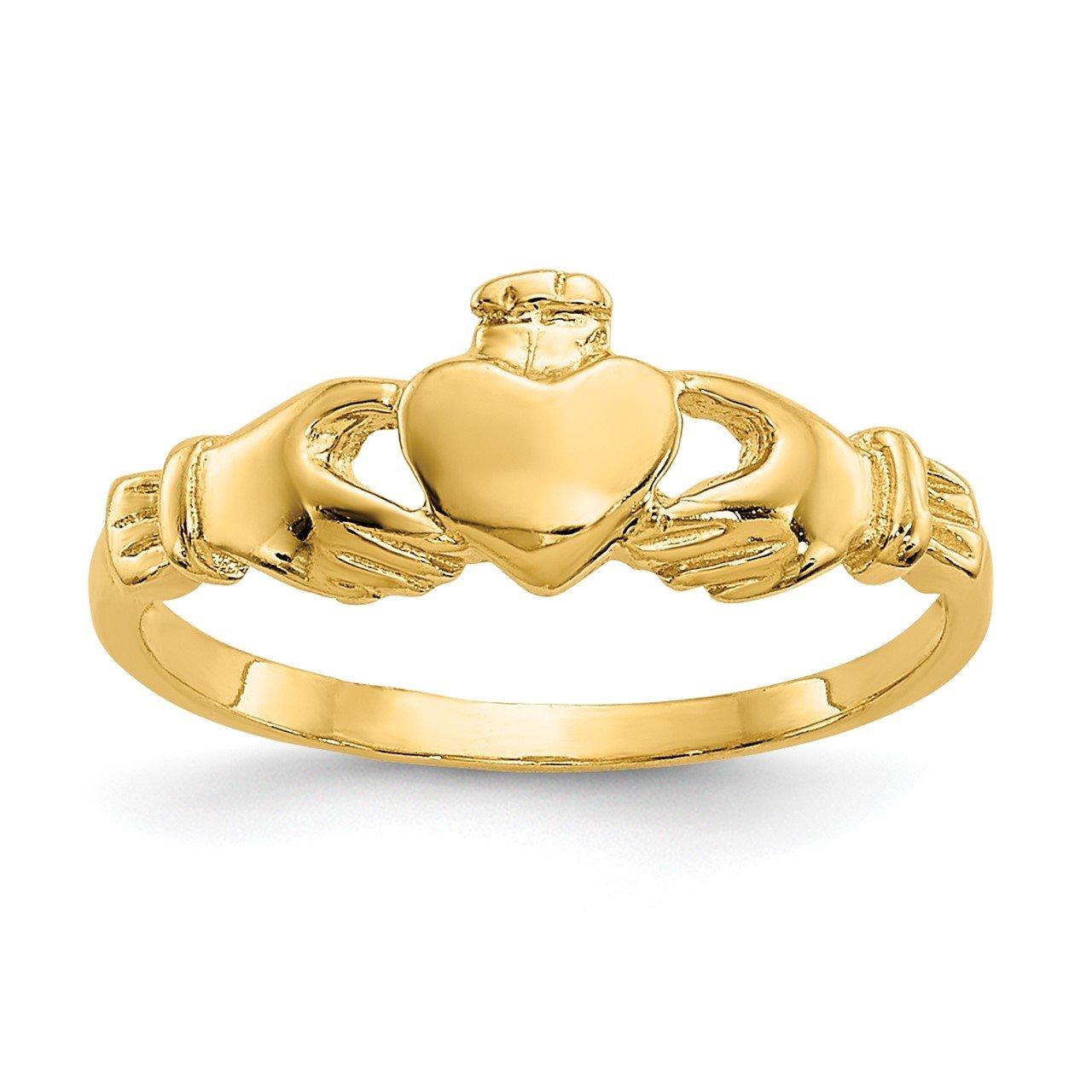 14k Madi K Claddagh Baby Ring