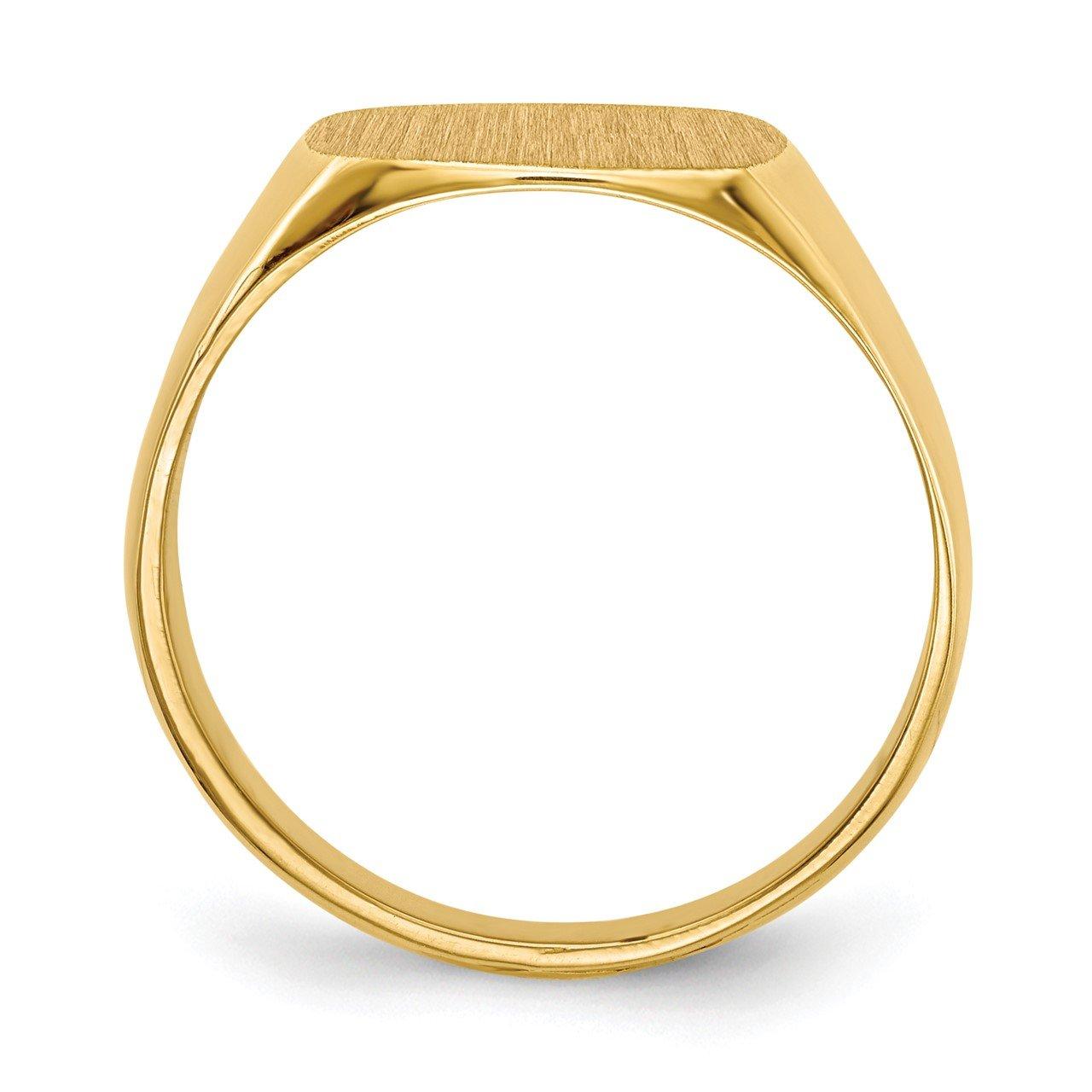 14k 12.0x13.0mm Closed Back Men's Signet Ring-1