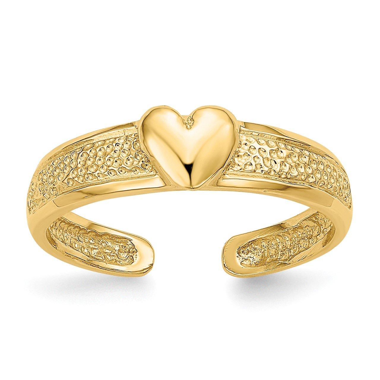 14k Heart Toe Ring