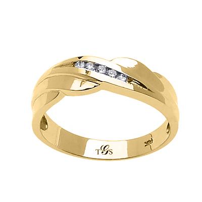 14k Yellow / White / Rose Gold Diamond Band