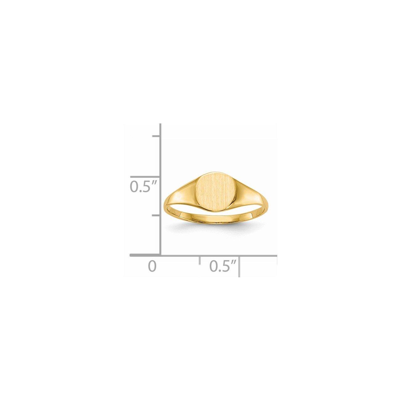14k 6.5x7.5mm Closed Back Signet Ring-4