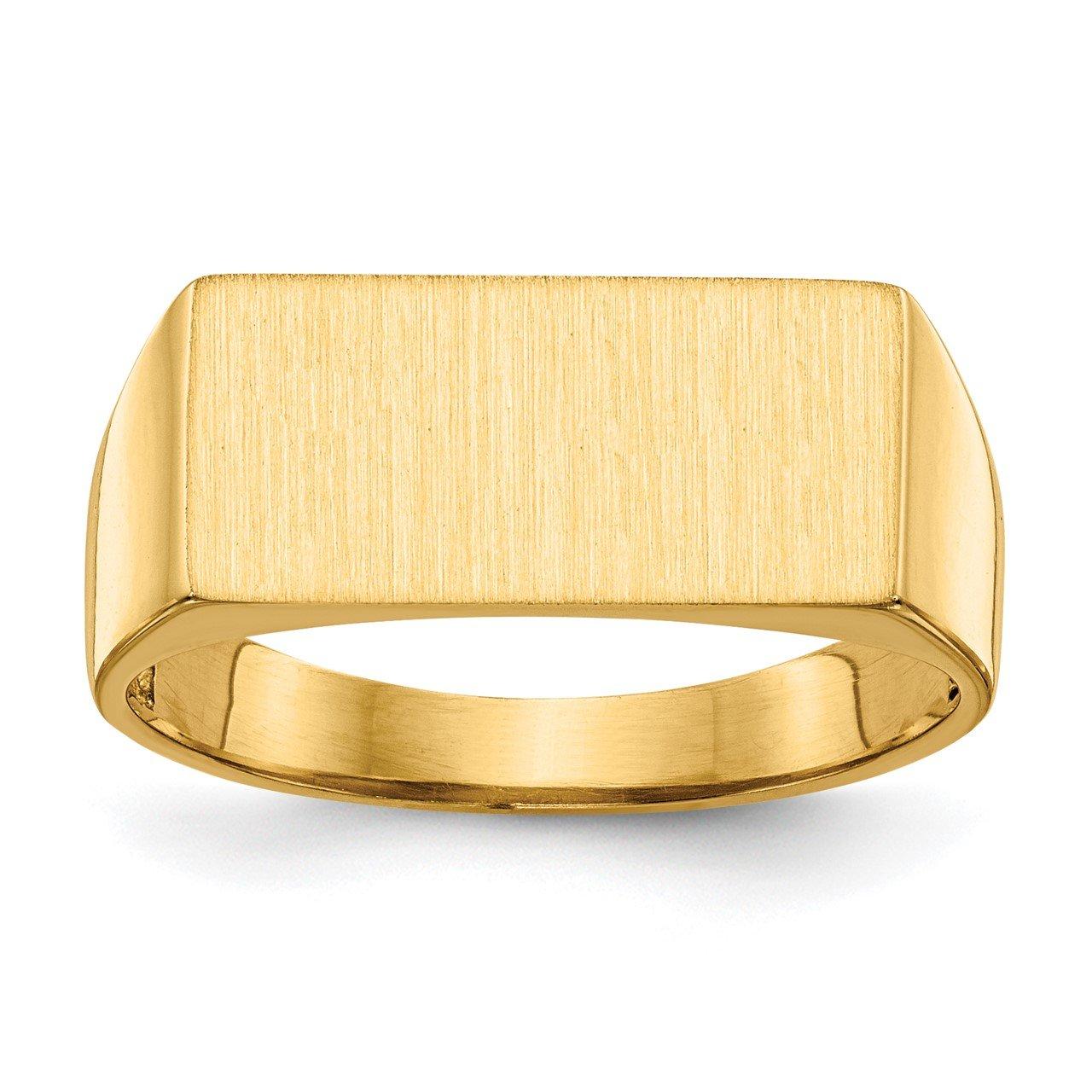 14k 8.0x16.5mm Open Back Men's Signet Ring