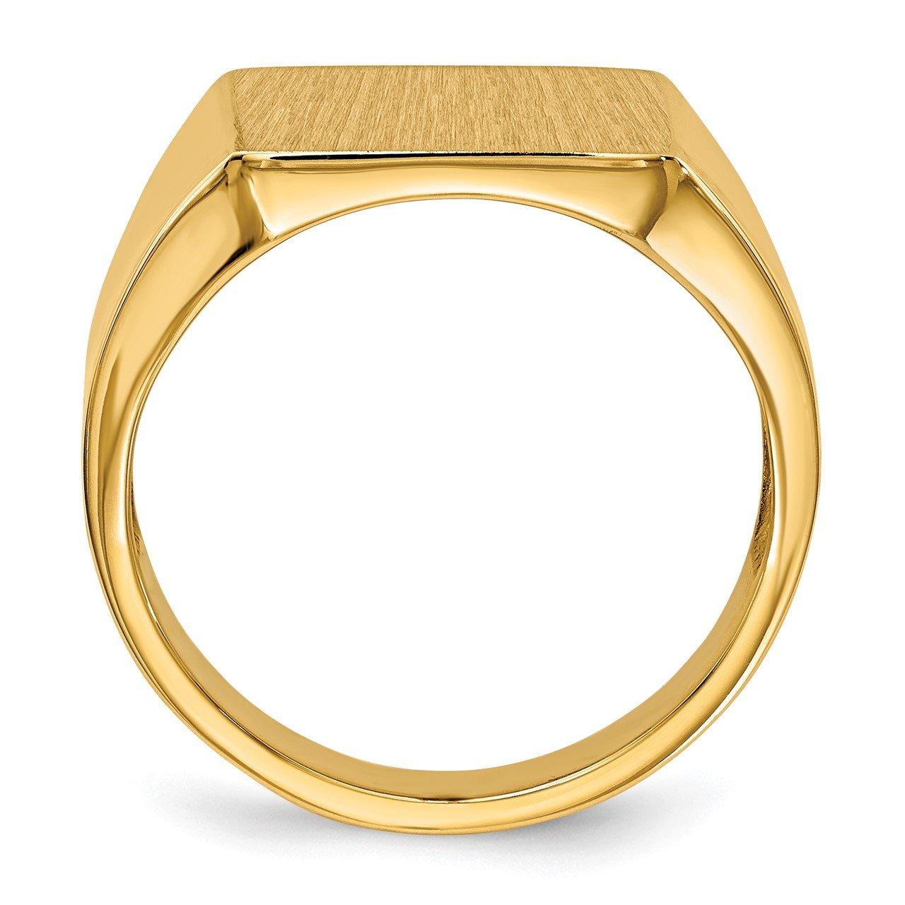14k 15.0x13.5mm Open Back Mens Signet Ring-1