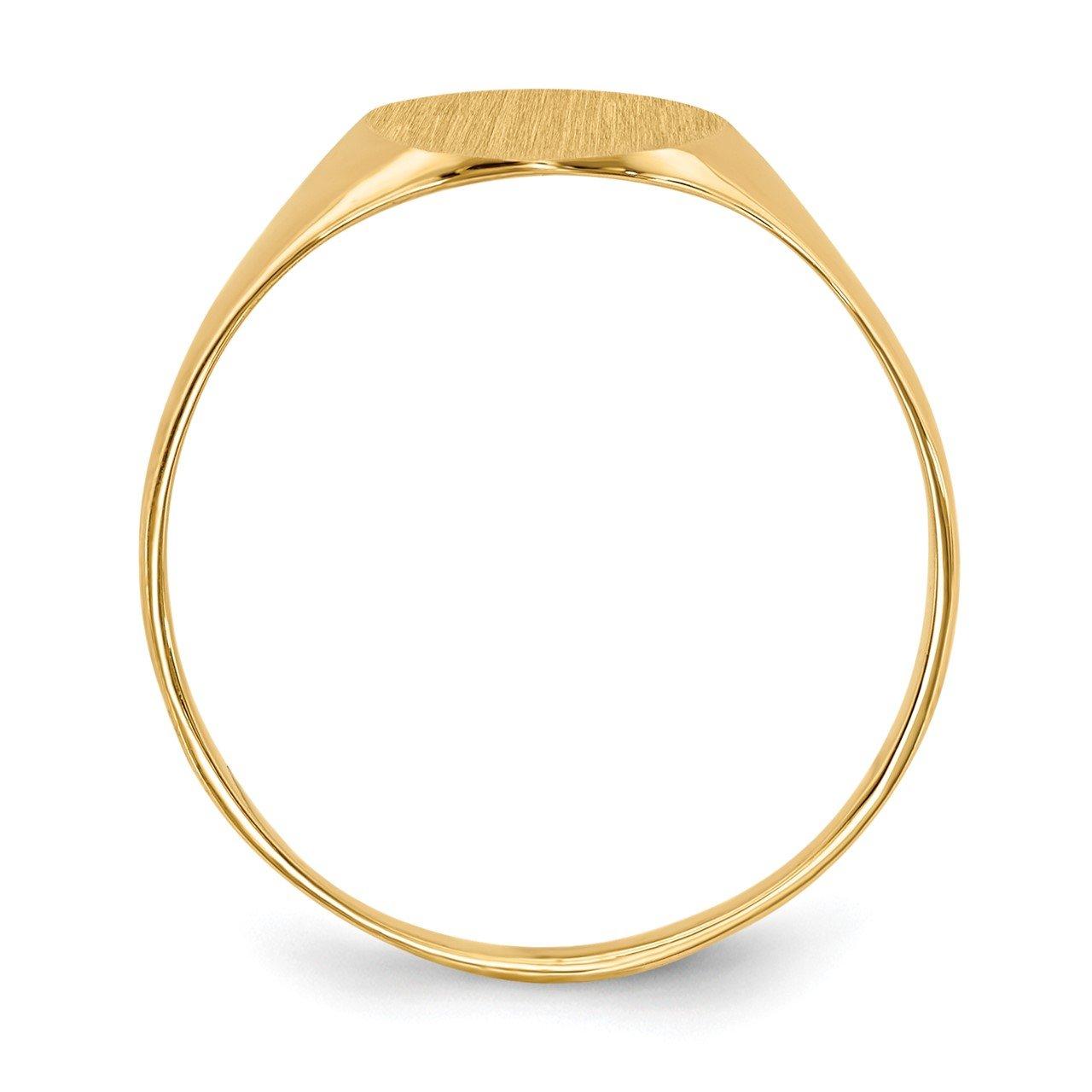 14k 10.0x8.5mm Closed Back Signet Ring-1