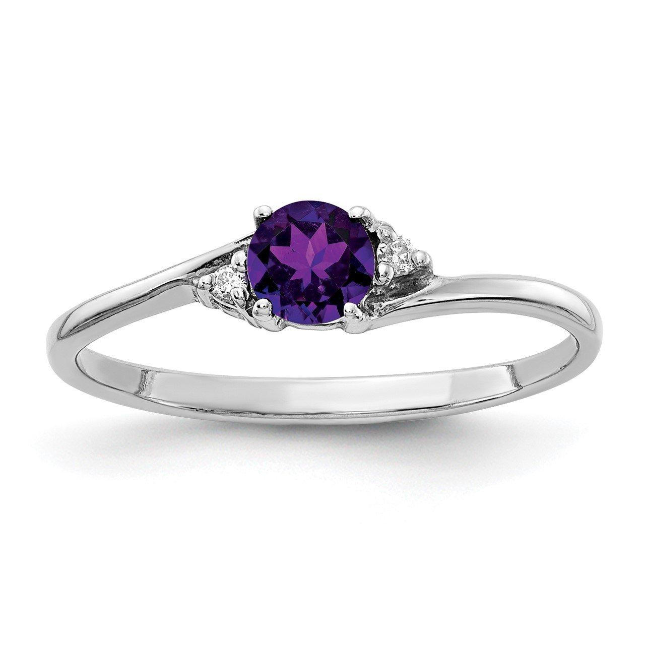 14k White Gold Diamond and Gemstone Ring Mtg