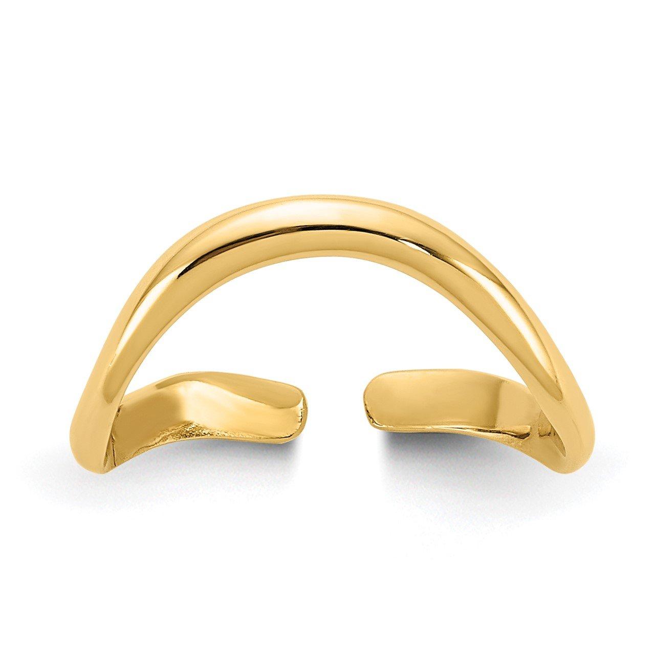 14k Polished Toe Ring