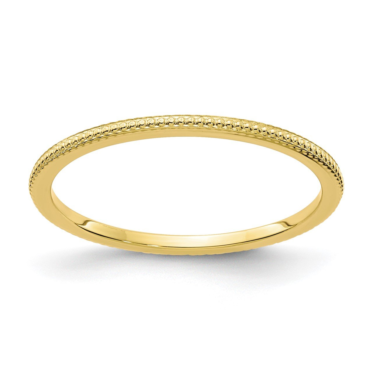 10K Gold 1.2mm Bead Stackable Band