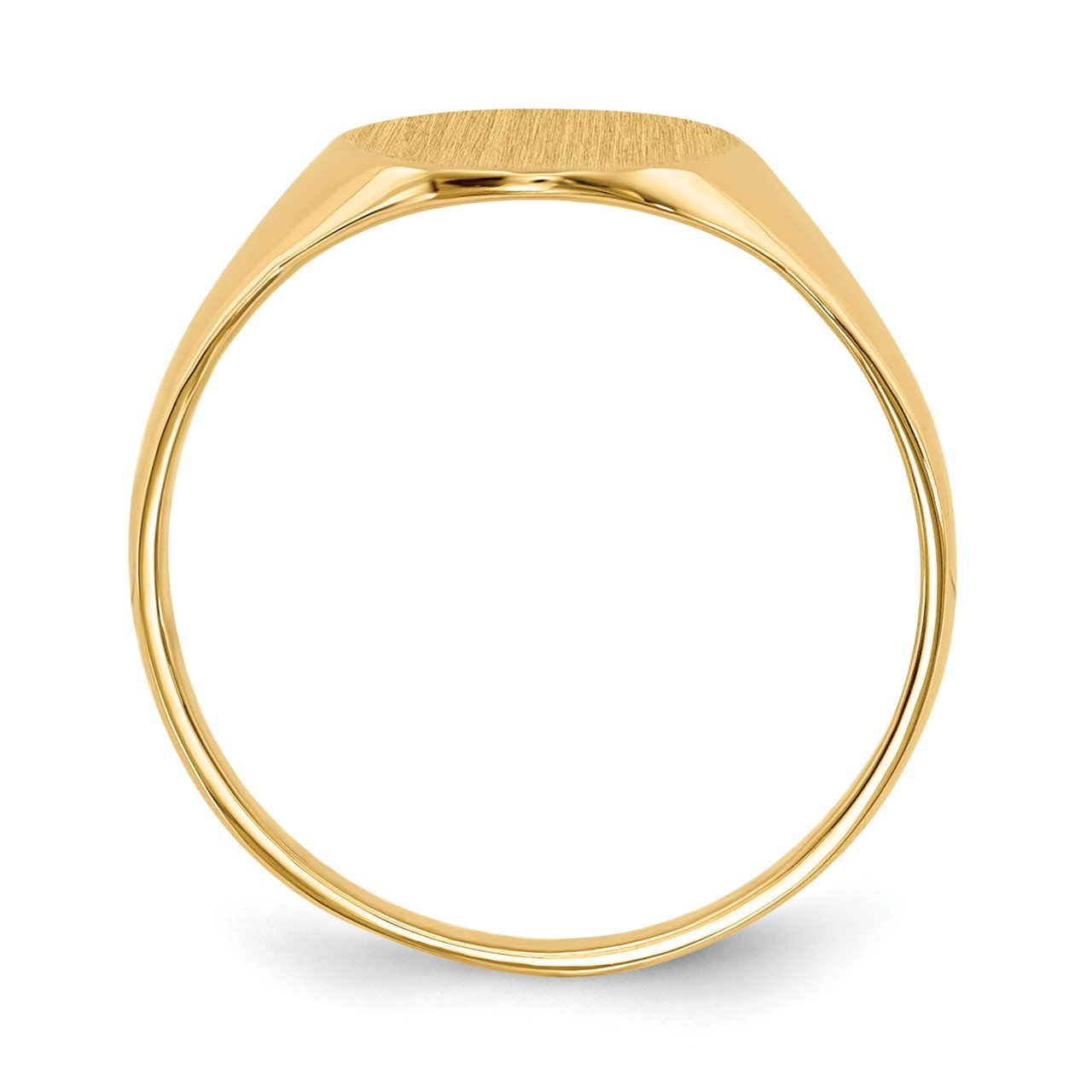 14k 11.0x9.5mm Closed Back Signet Ring-1
