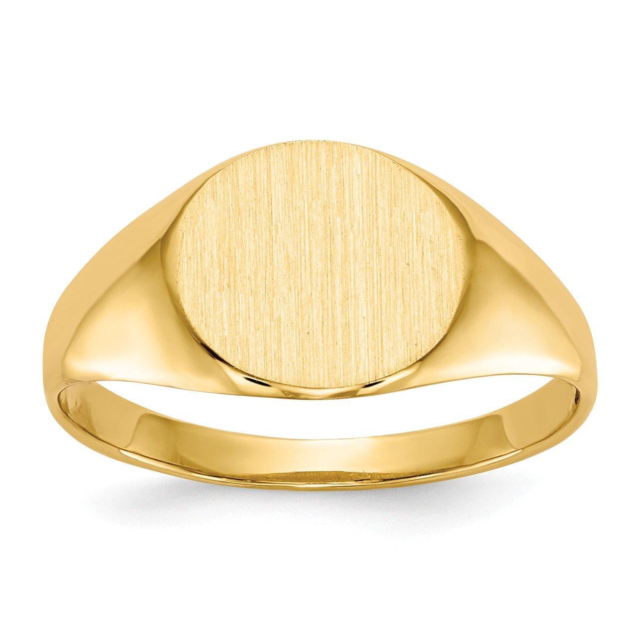 14k 8.5x9.5mm Open Back Signet Ring