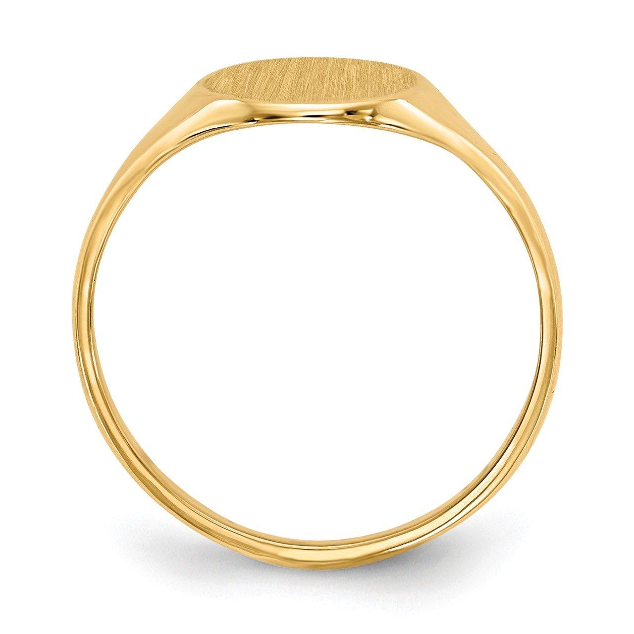 14k 10.0x8.5mm Open Back Signet Ring-1