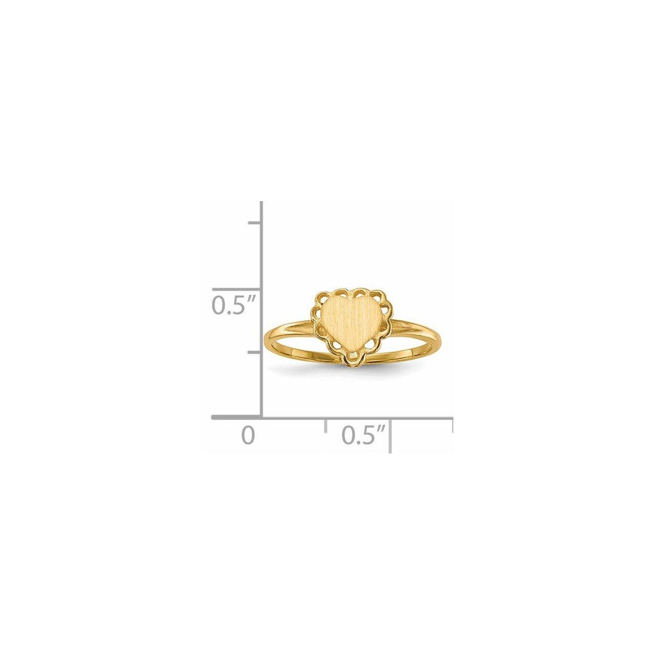 14k 6.0x6.5mm Open Back Heart Signet Ring-4