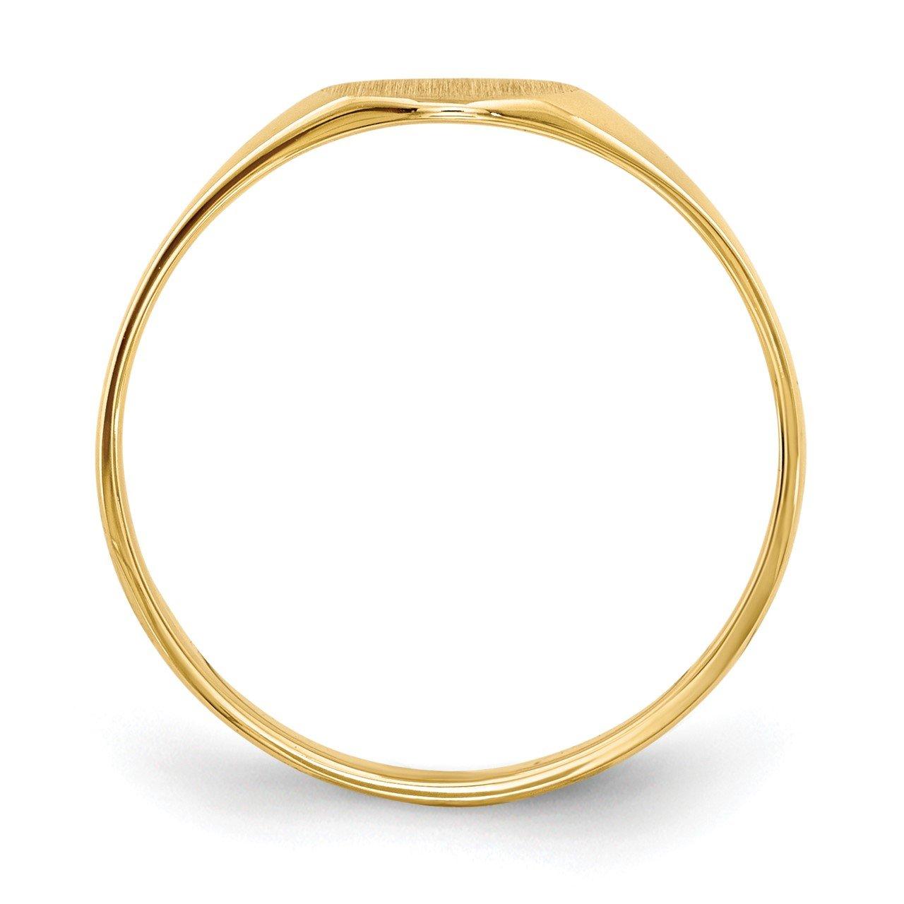 14k 6.5x7.5mm Closed Back Signet Ring-1