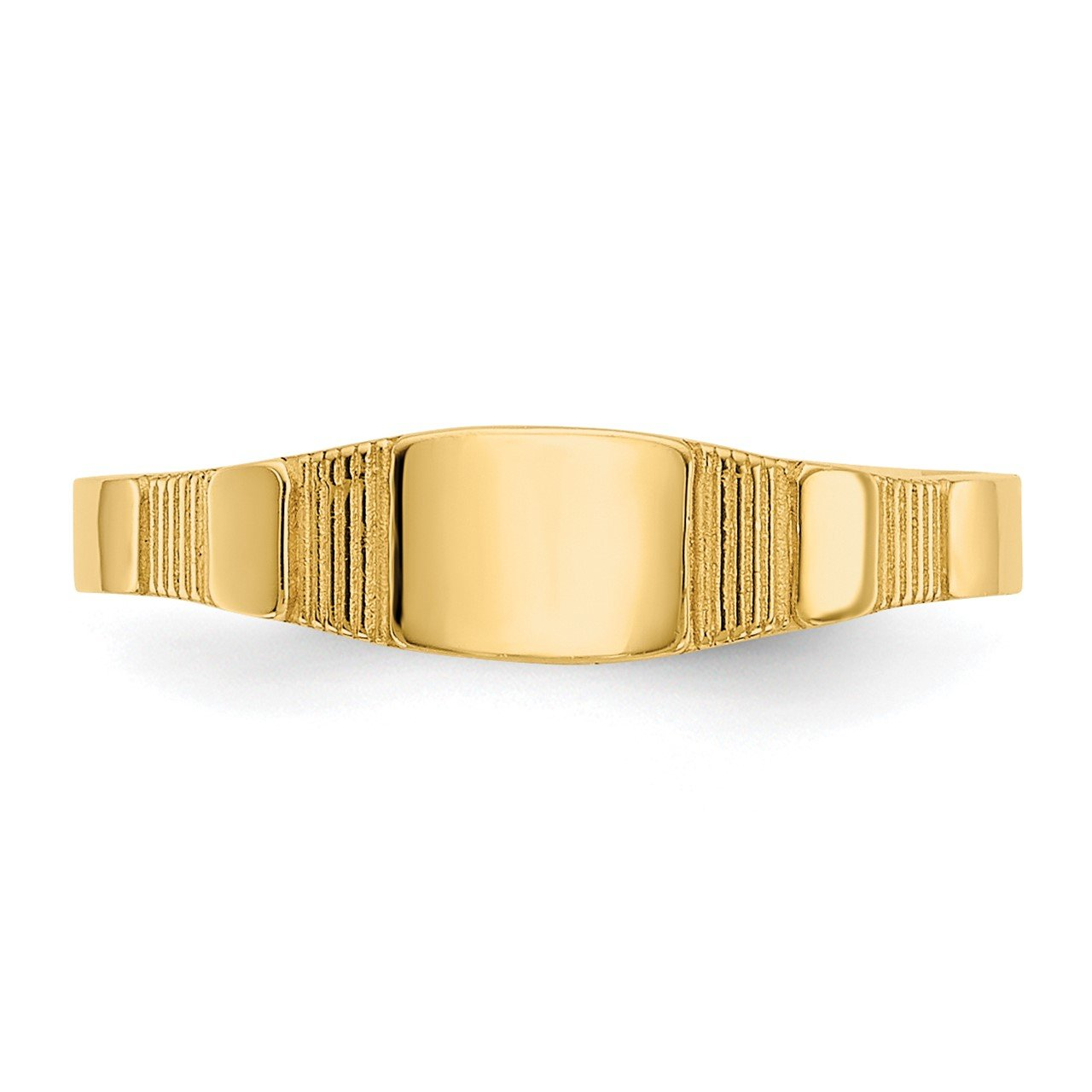 14K Polished Square Baby Signet Ring-4