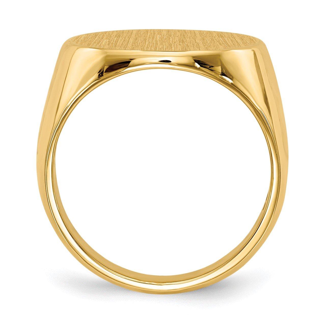 14k 17.5x18.0mm Closed Back Men's Signet Ring-1
