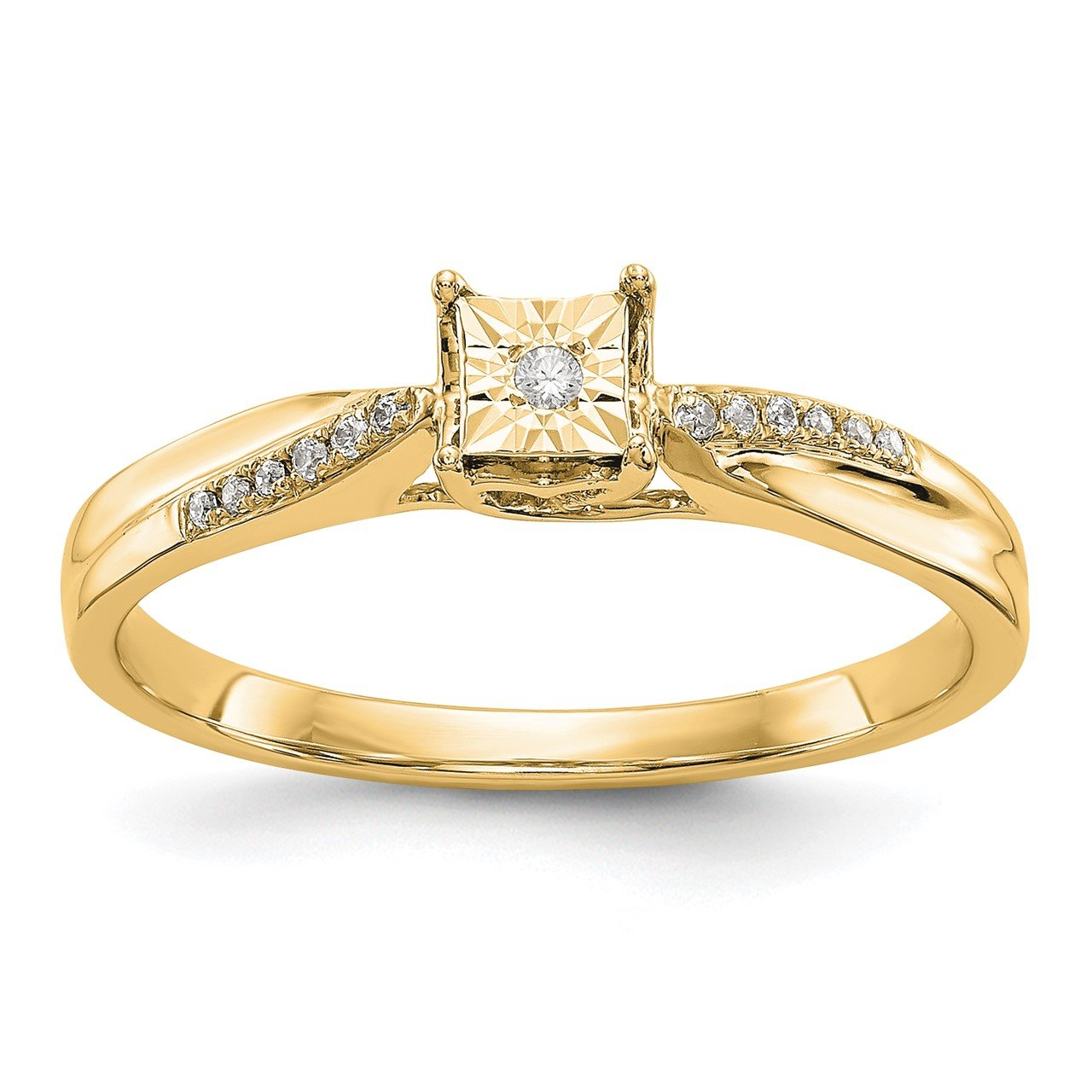 14K Yellow Gold Complete Diamond Engagement Ring