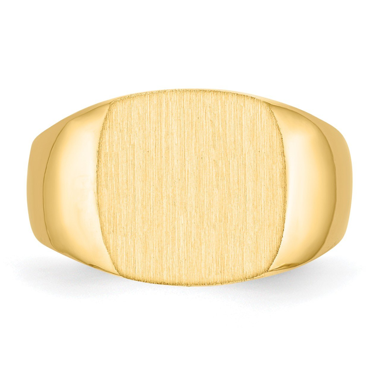 14k 12.0x13.0mm Closed Back Men's Signet Ring-3