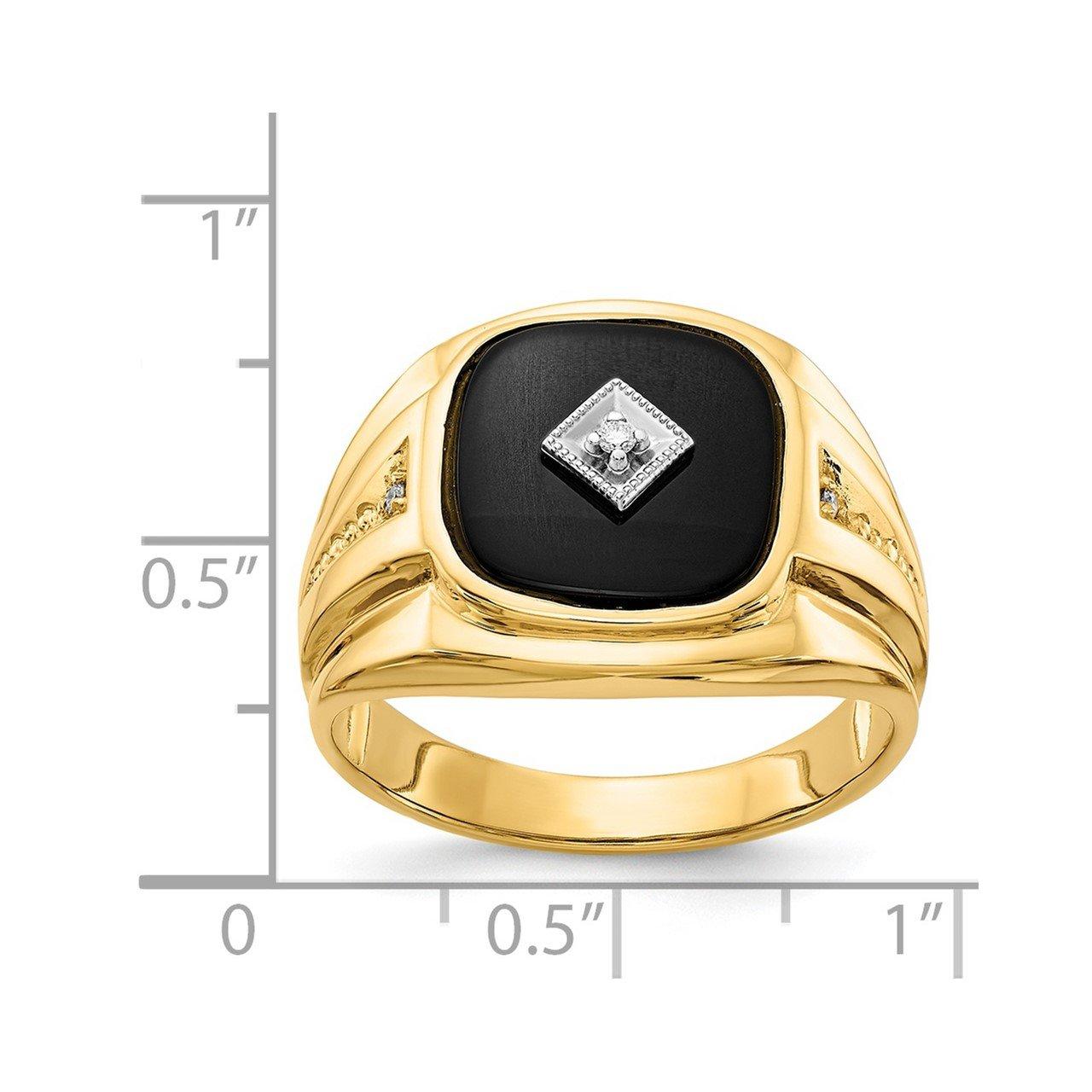 14k AA Diamond Men's Ring-2