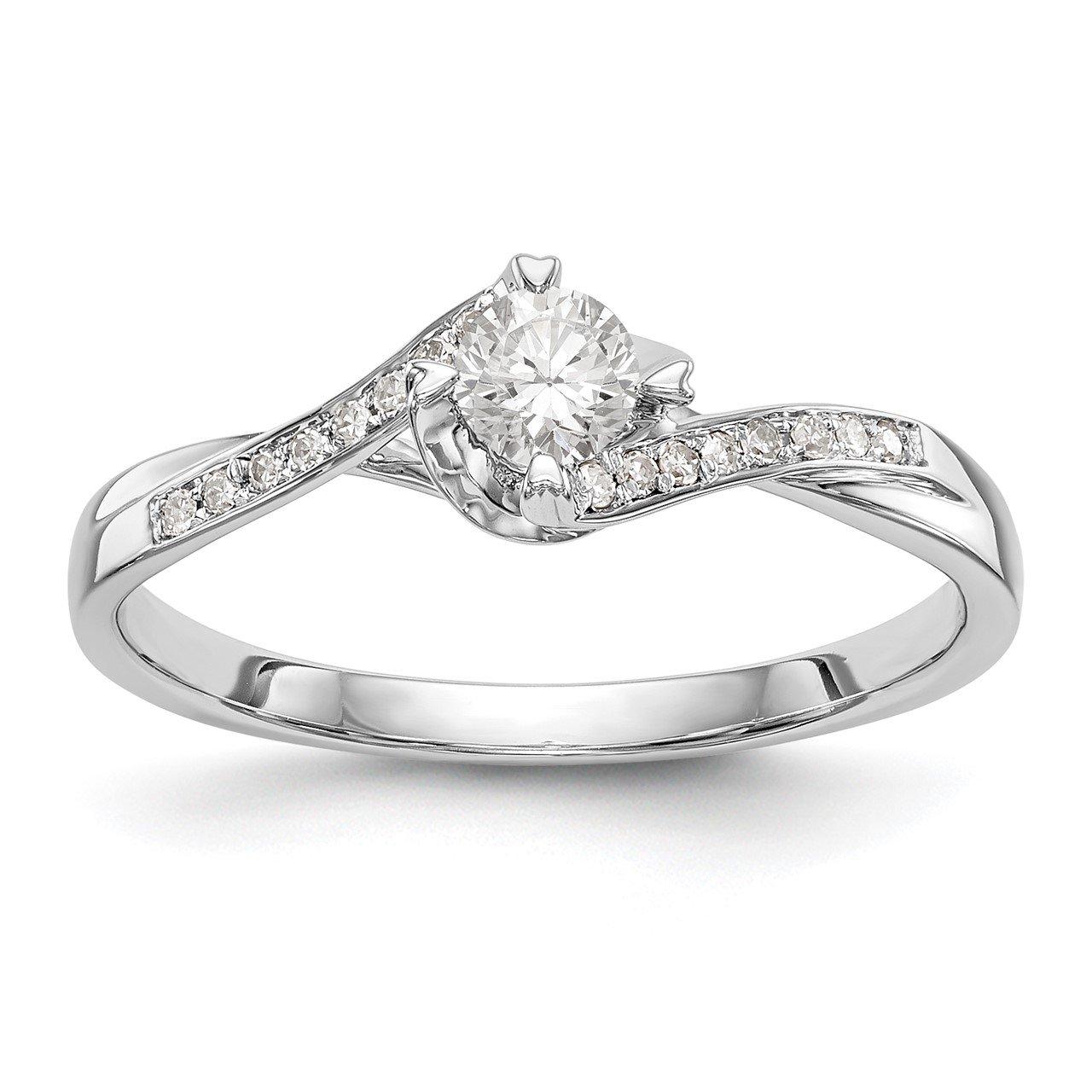 14K White Gold Diamond Semi-Mount Promise/Engagement Ring