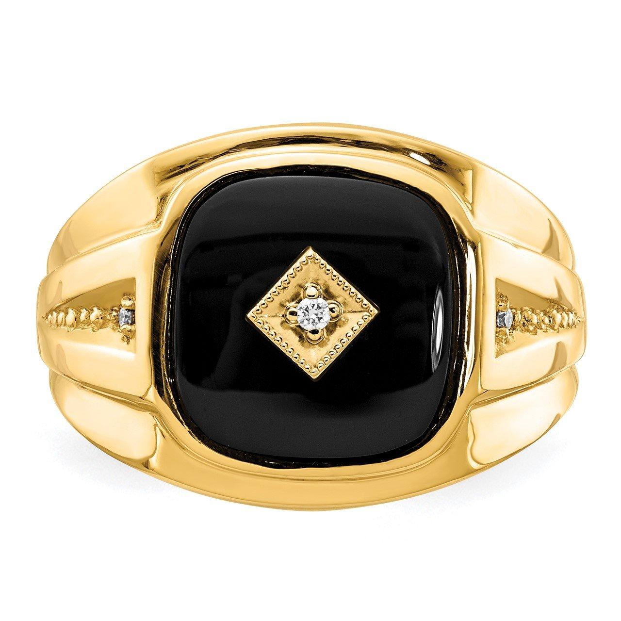 14k AA Diamond Men's Ring-4