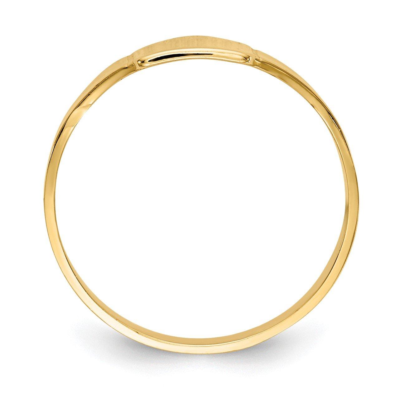 14k Polished Square Signet Baby Ring-1
