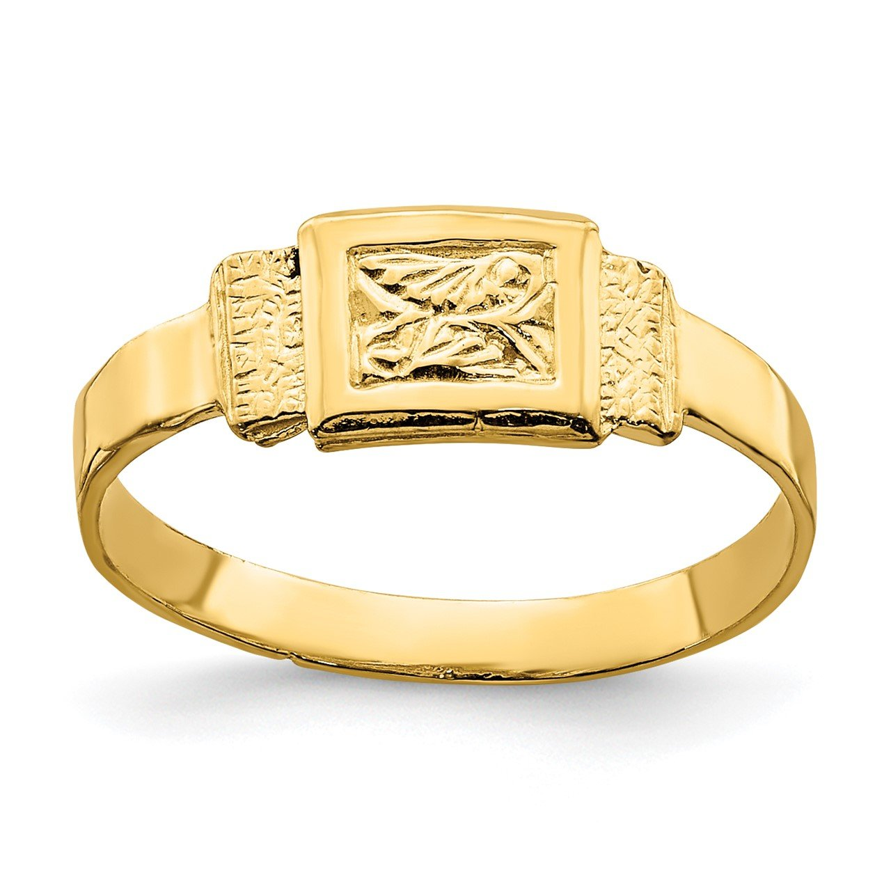 14K Rectangle Baby Ring