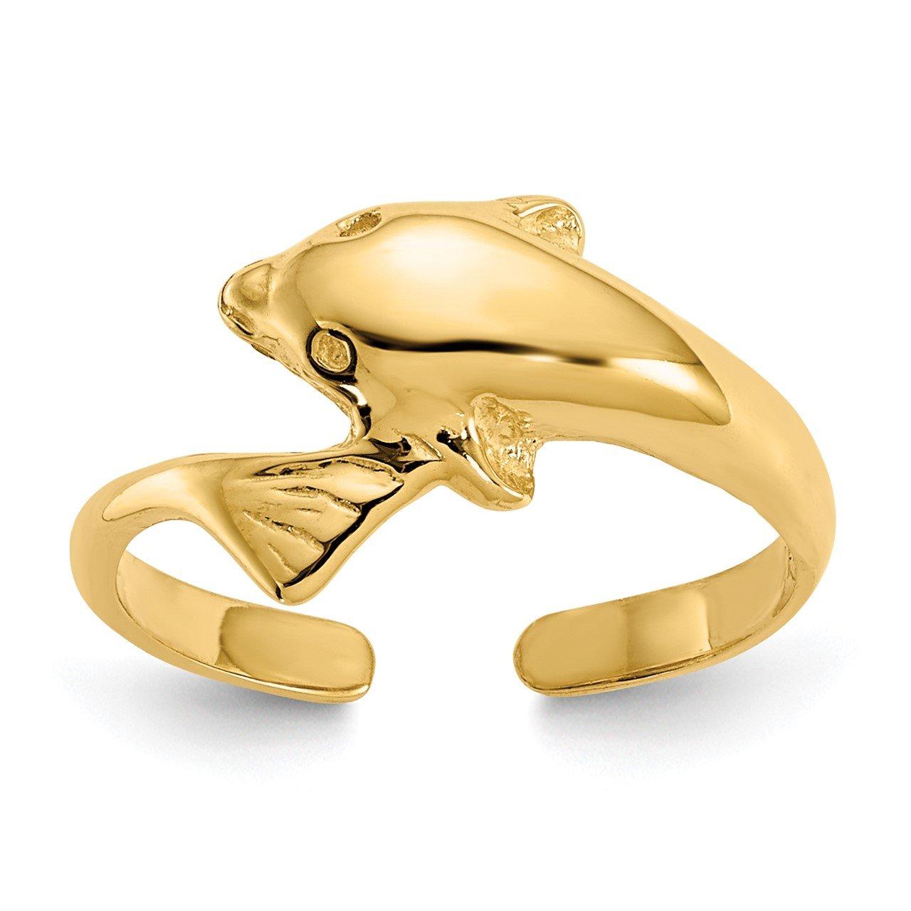14k Dolphin Toe Ring