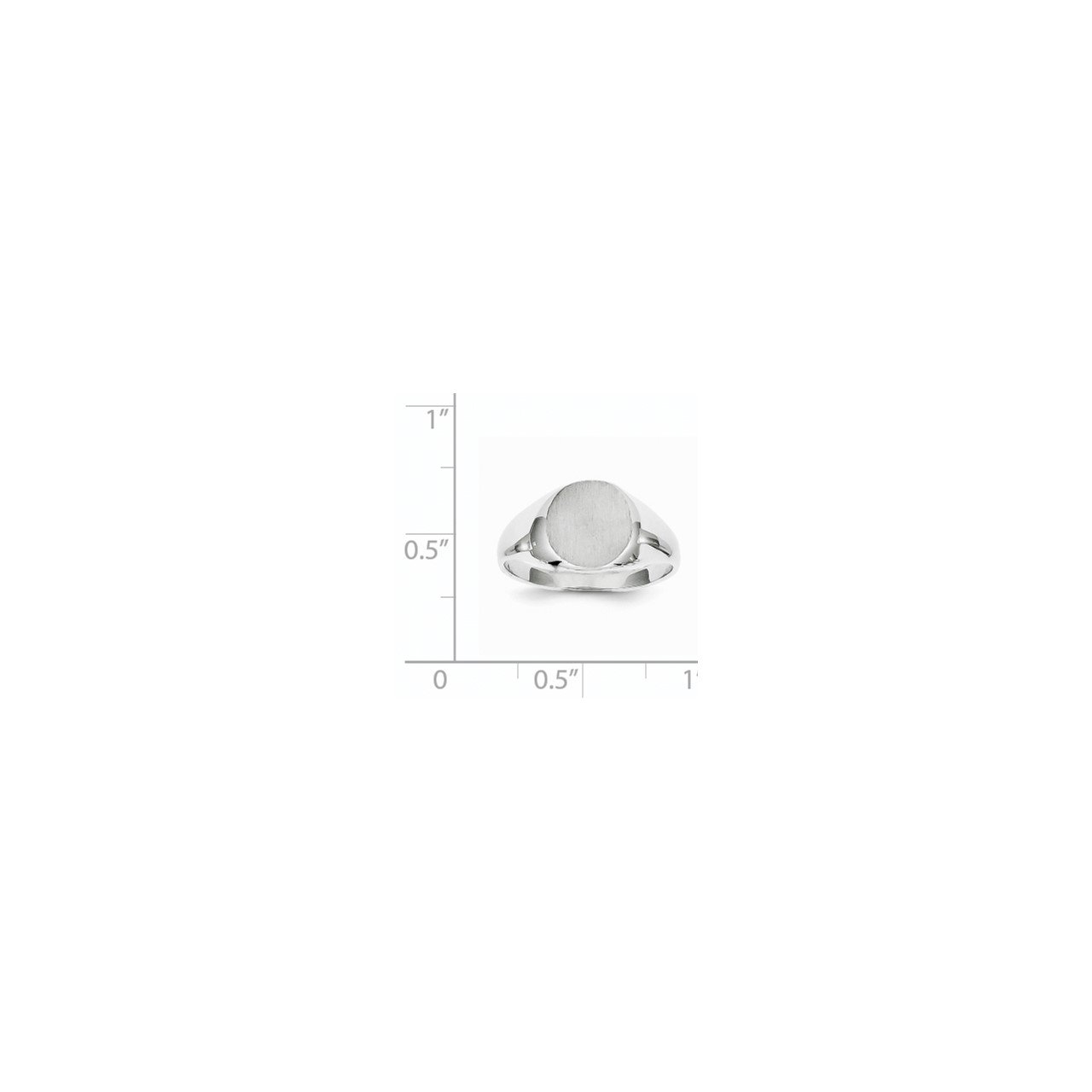 14kw 9.0x9.5mm Closed Back Signet Ring-4