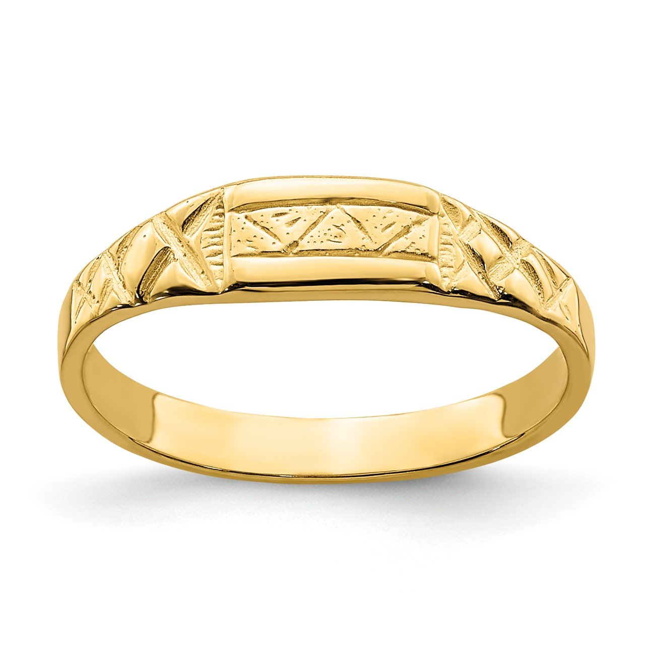 14K Baby Triangle Textured Ring