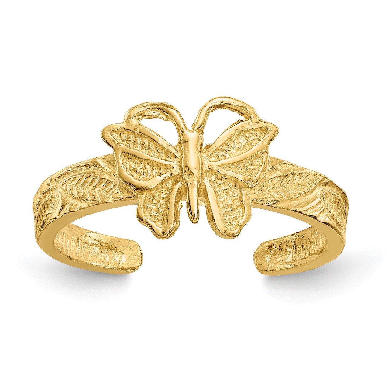 14K Butterfly Toe Ring