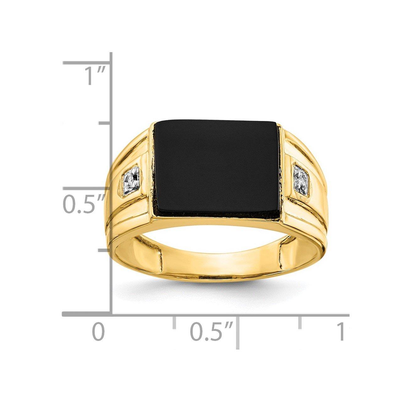 14k A Diamond men's ring-4