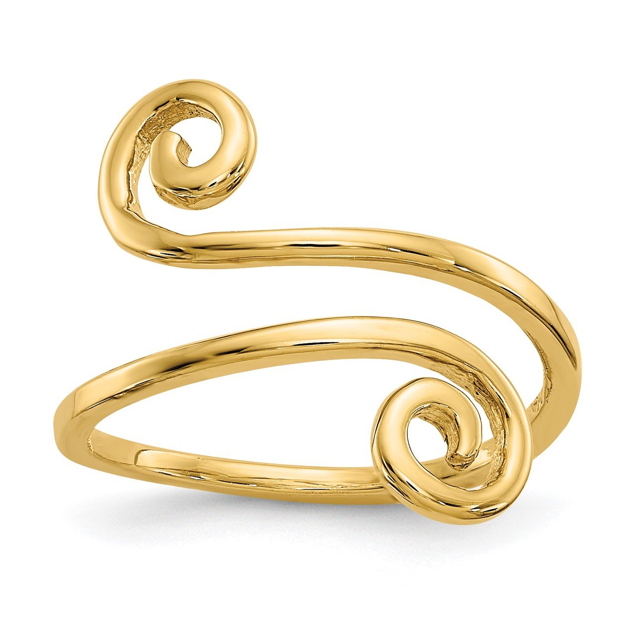 14k Swirl Toe Ring