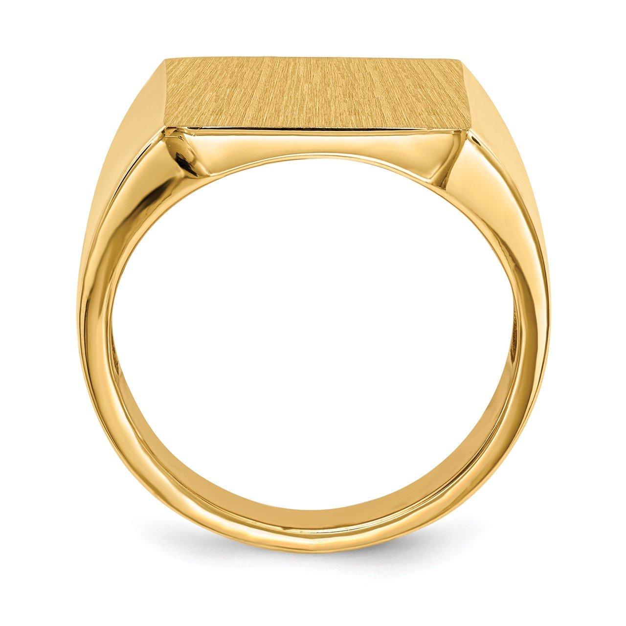 14k 17.5x15.5mm Open Back Mens Signet Ring-1