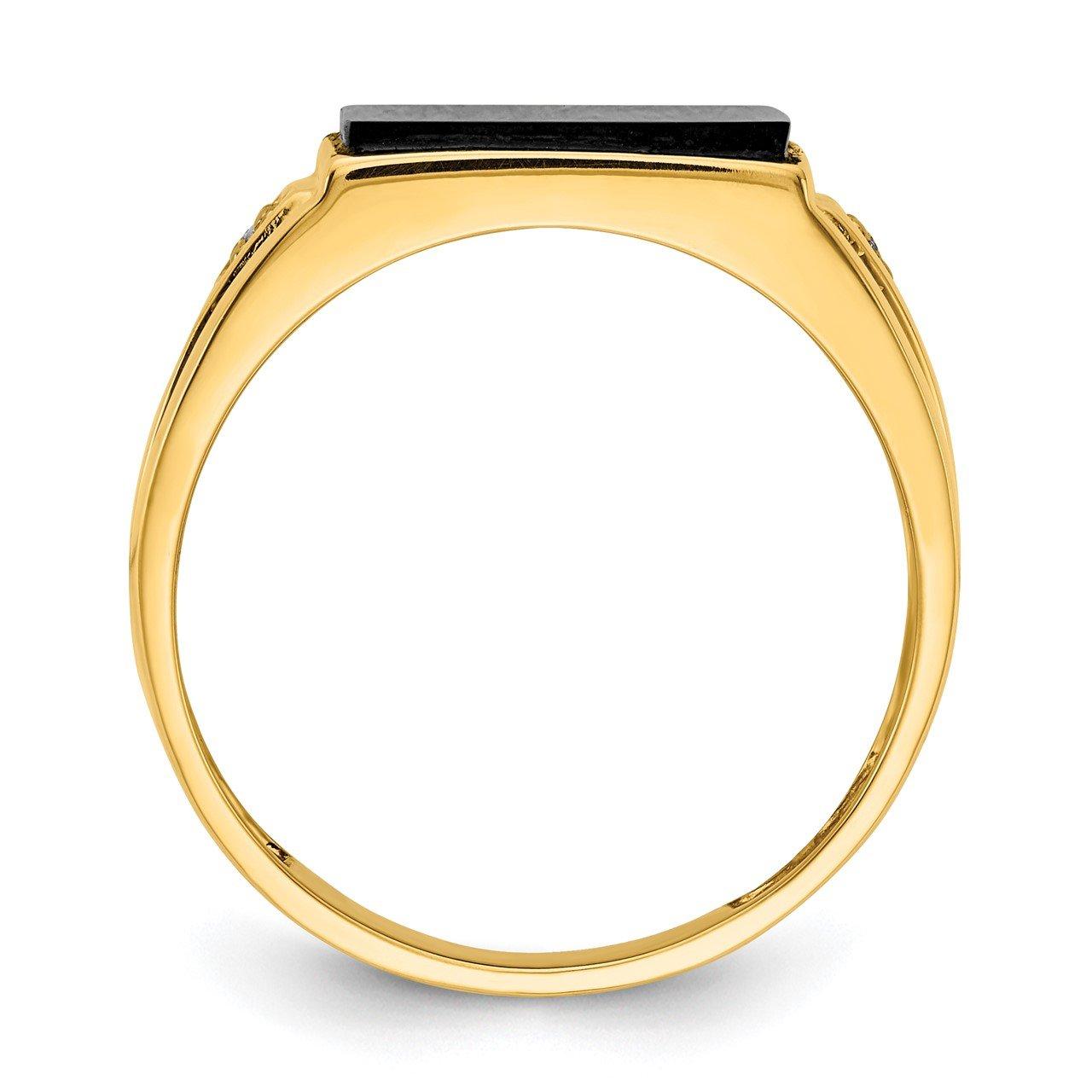14k A Diamond men's ring-1