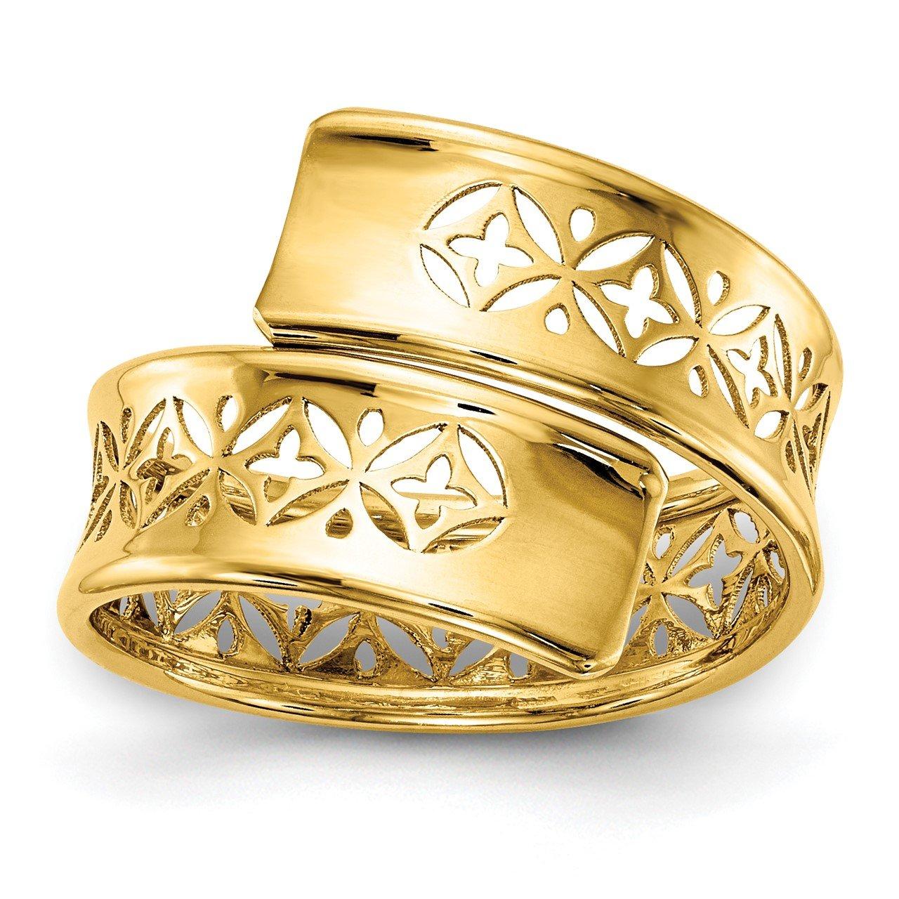 Leslie's 14K Polished Cut-out Adjustable Wrap Ring
