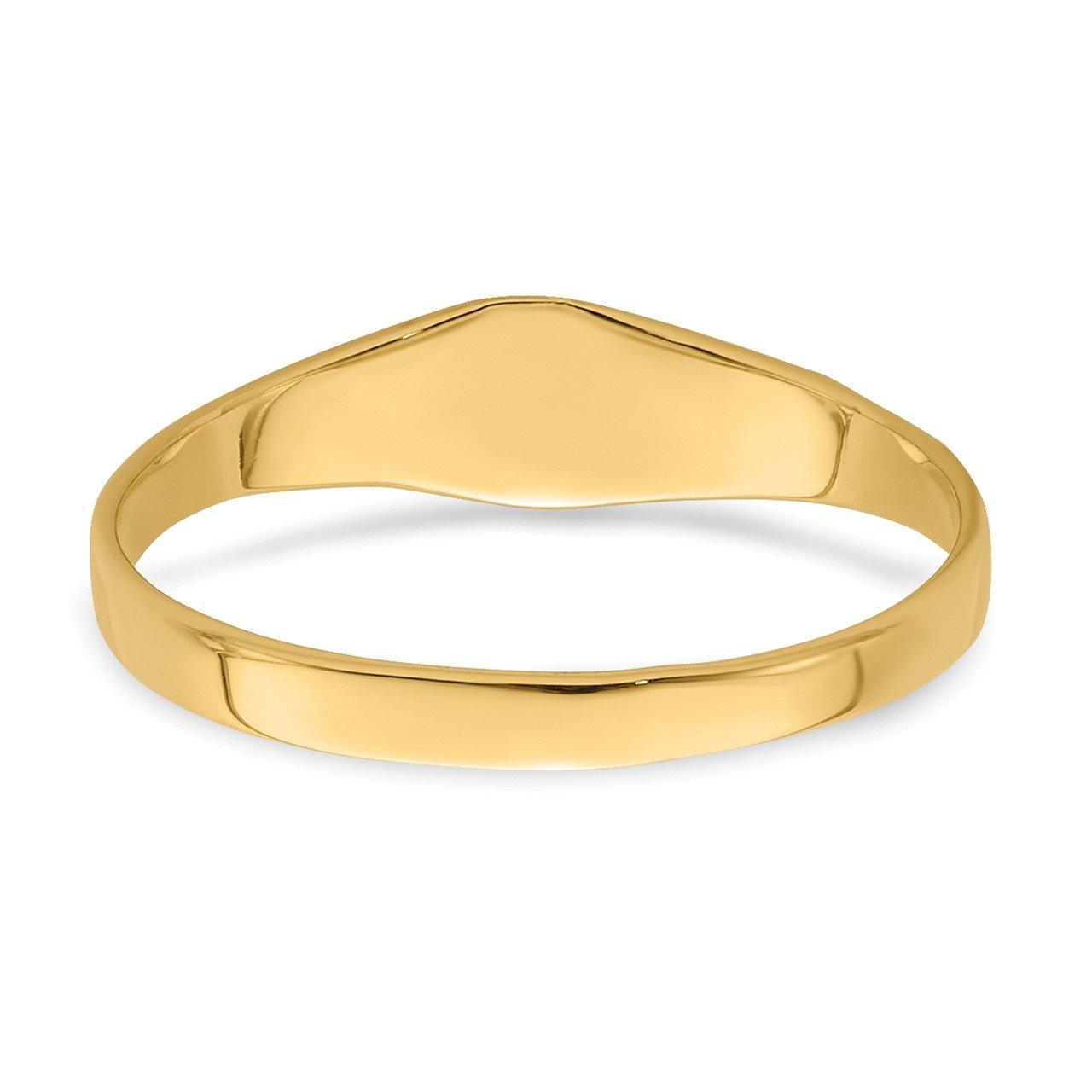 14K Polished Square Baby Signet Ring-5