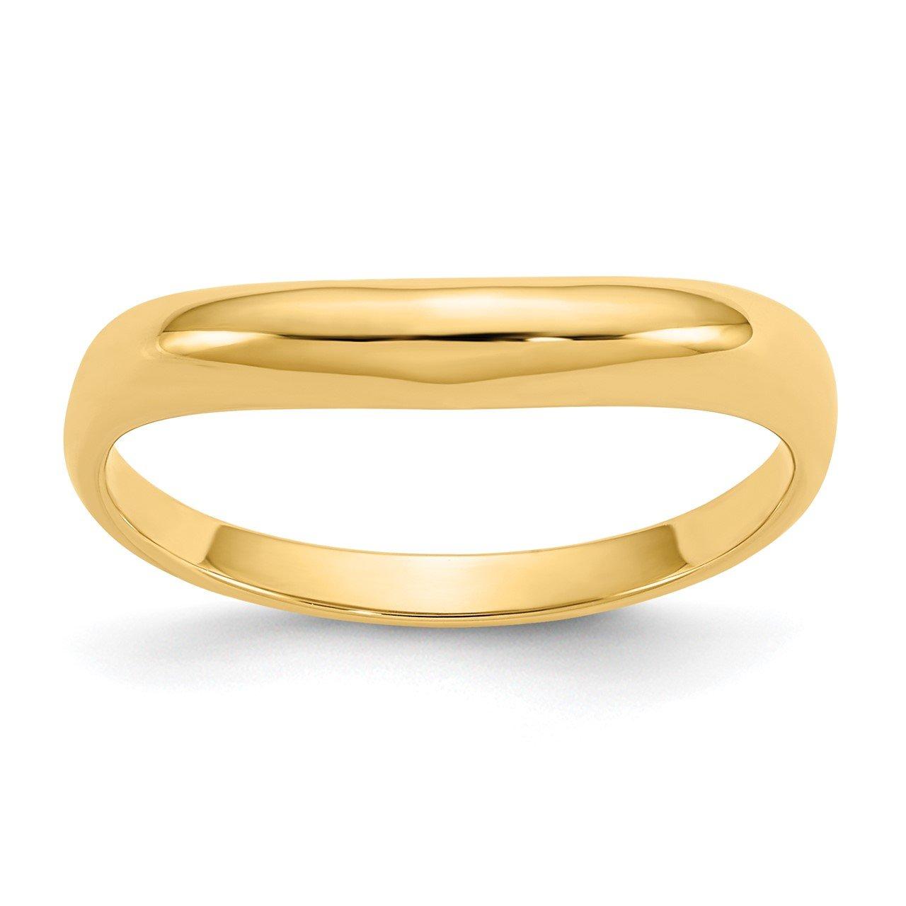 14k Polished Stackable Wave Ring