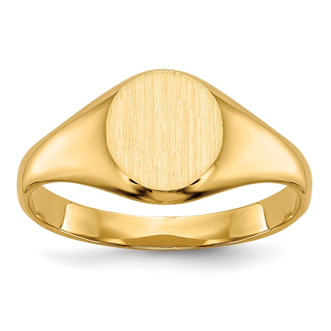 14k Childs Signet Ring