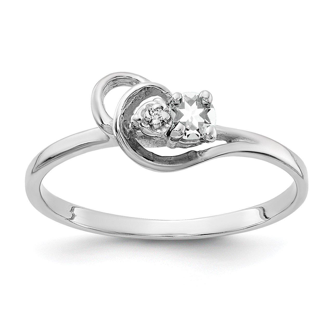 14k White Gold 3mm Cubic Zirconia VS Diamond ring