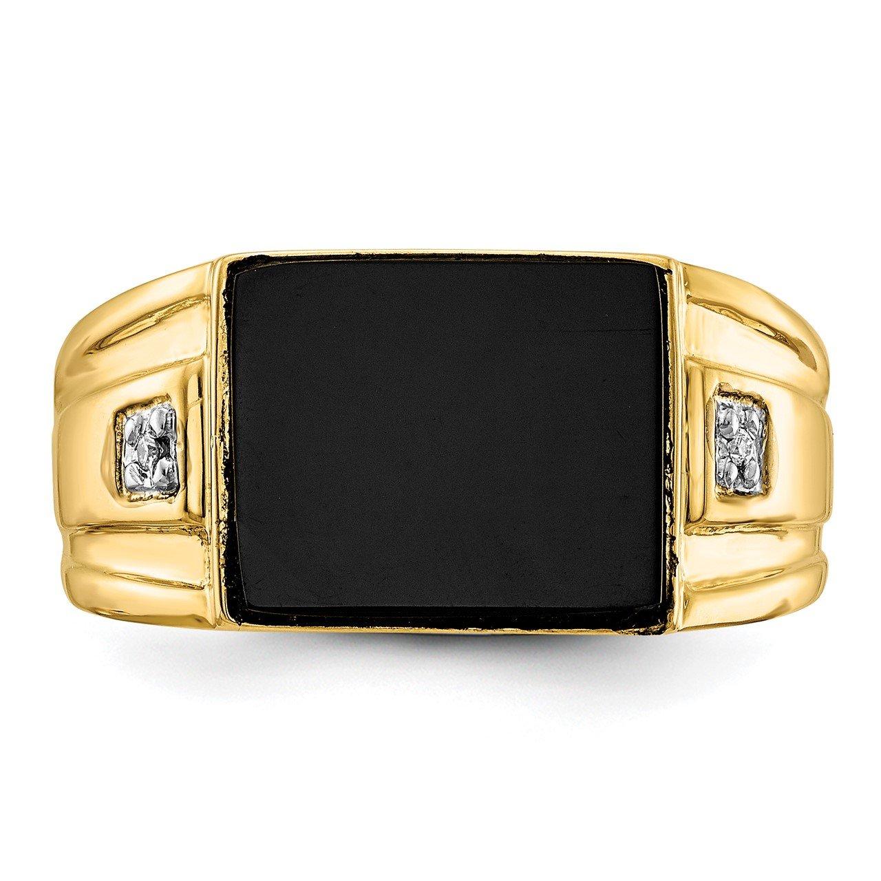 14k A Diamond men's ring-3
