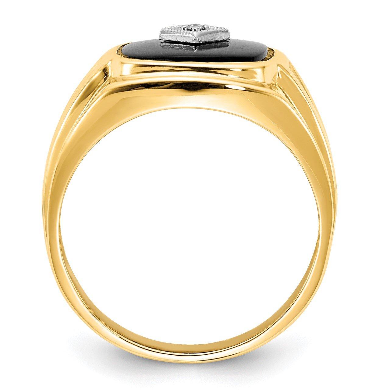 14k AA Diamond Men's Ring-1