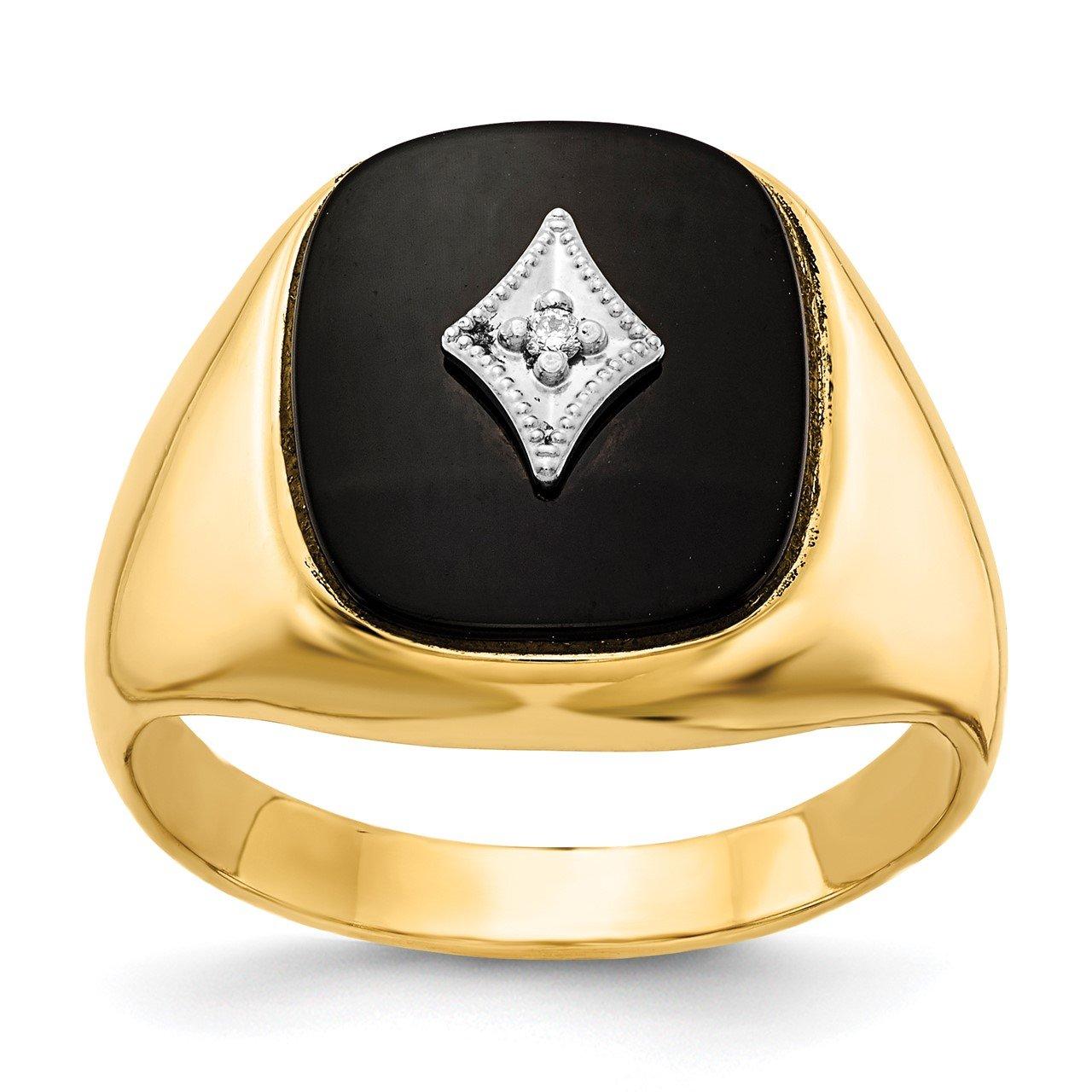 14k A Diamond men's ring