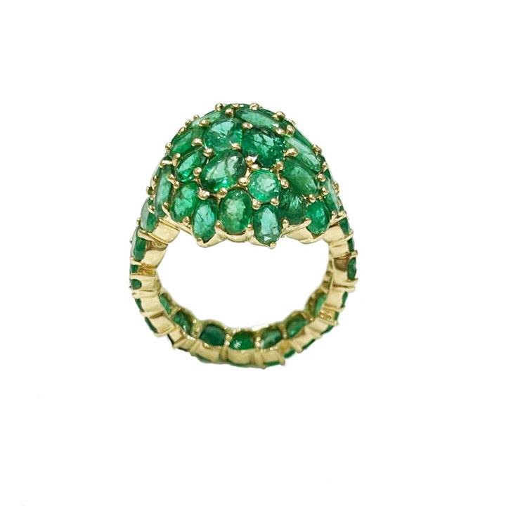 14k Yellow Gold Emerald Ring