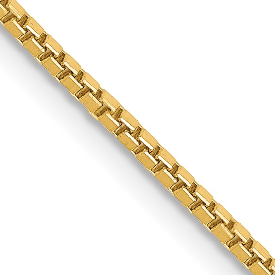 14K 30 inch 1.3mm Box with Lobster Clasp Chain