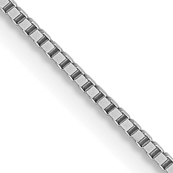 Leslie's 14K White Gold .8mm Box with Spring Ring Clasp Chain